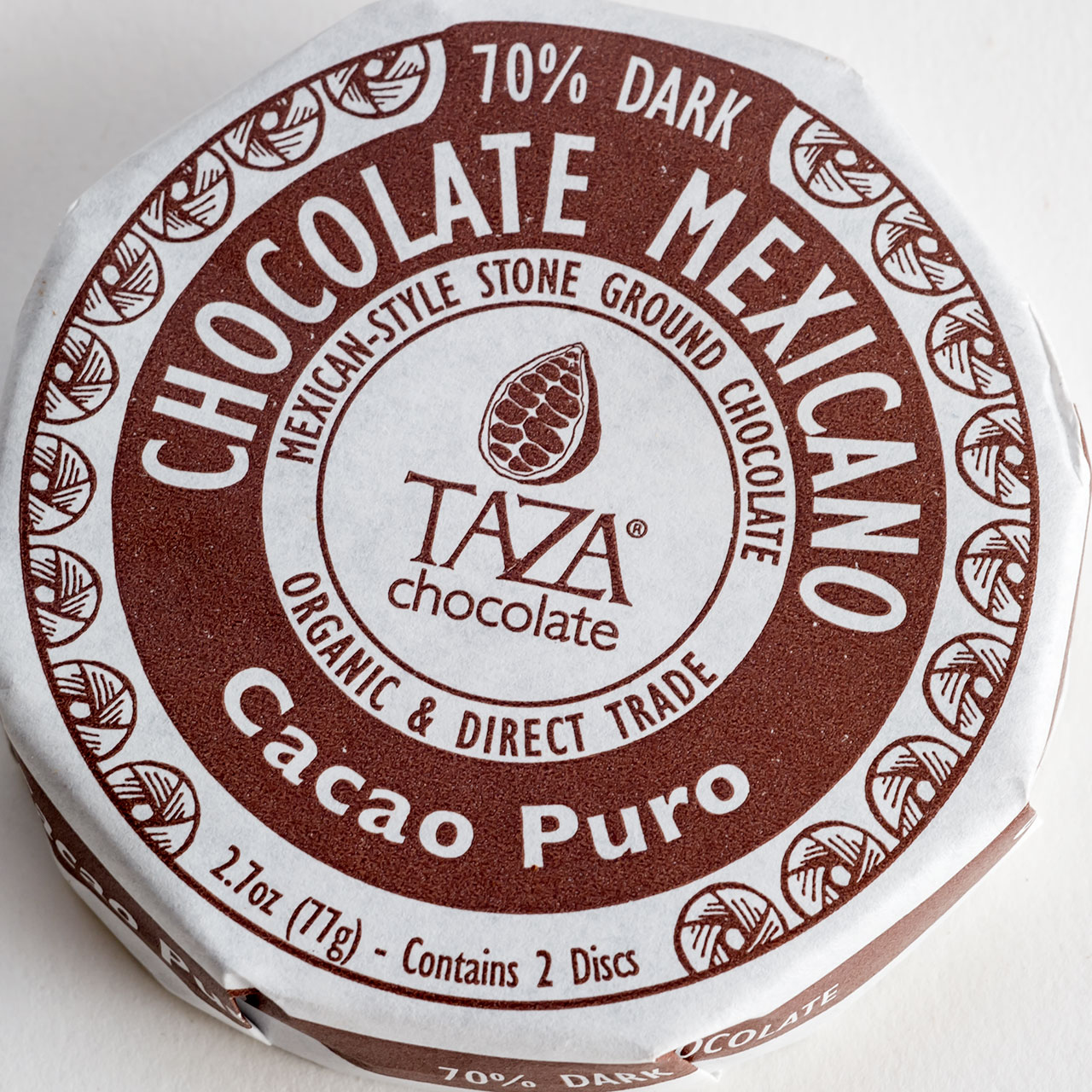 Taza Pure Mexican Chocolate Disk - Organic