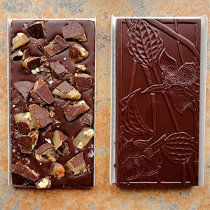 Wildwood Salted Brown Butter Texas Pecan Brittle 70-Percent Dark Chocolate Bar