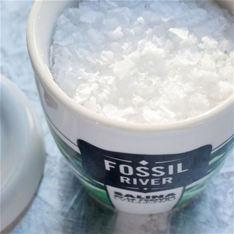 Fossil River Flake Sea Salt - Porcelain Crock