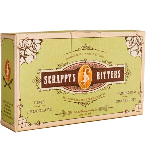 Scrappys Grapefruit, Chocolate, Lime & Cardamom Bitters - Sampler