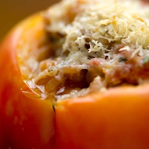 Emmer Stuffed Heirloom Tomatoes Recipe